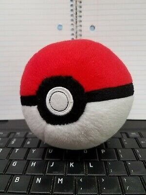"Genuine Tomy Pokemon Pokeball Plush 5"" Pre-Owned Free Shipping (A)"