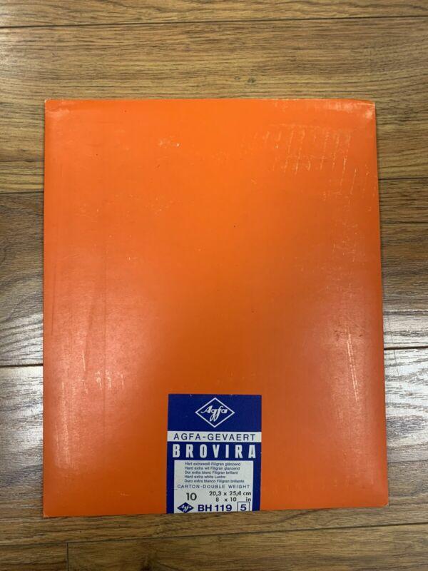 AGFA BROVIRA Photo Paper 10 Sheet Photography Developing 8x10 BN 119 Series 5