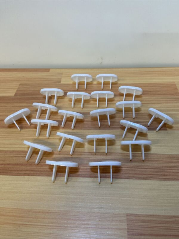 20PCS US Outlet Safety Child Baby Proof Electric Socket Plastic Cover White USA
