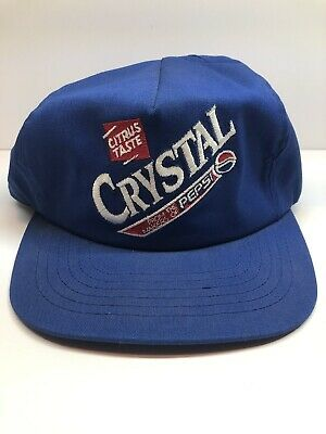 Vintage Used Crystal Pepsi Hat RARE Free Shipping Collectible