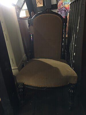 Victorian Aesthetic Movement Ebonised And Gilt Chair
