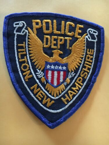 Tilton New Hampshire Vintage Police Patch version 2