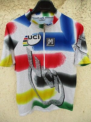 1a0e37b5b9bb Maillot cycliste SMS SANTINI UCI Champion Du Monde World Champion shirt  maglia