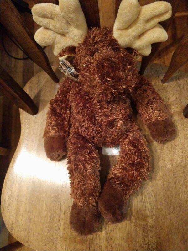 Melissa and Doug Moose with bow plush animal stuffed animal brown antlers