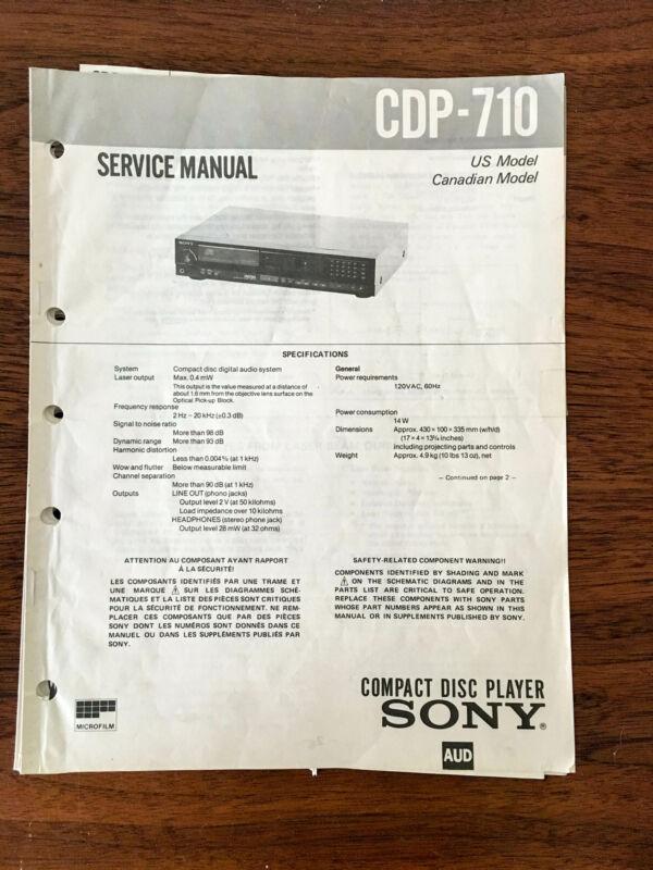 Sony CDP-710  Service Manual *Original* #1