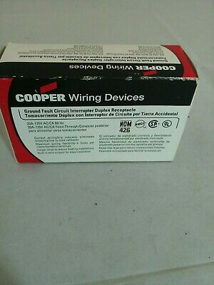 Cooper Wiring Devices 125-Volt 20-Amp White Decorator GFCI Electrical Outlet Decorator Gfci Electrical Outlet