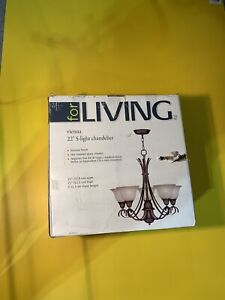 "New for living Vienna 22"" 5 light chandelier"