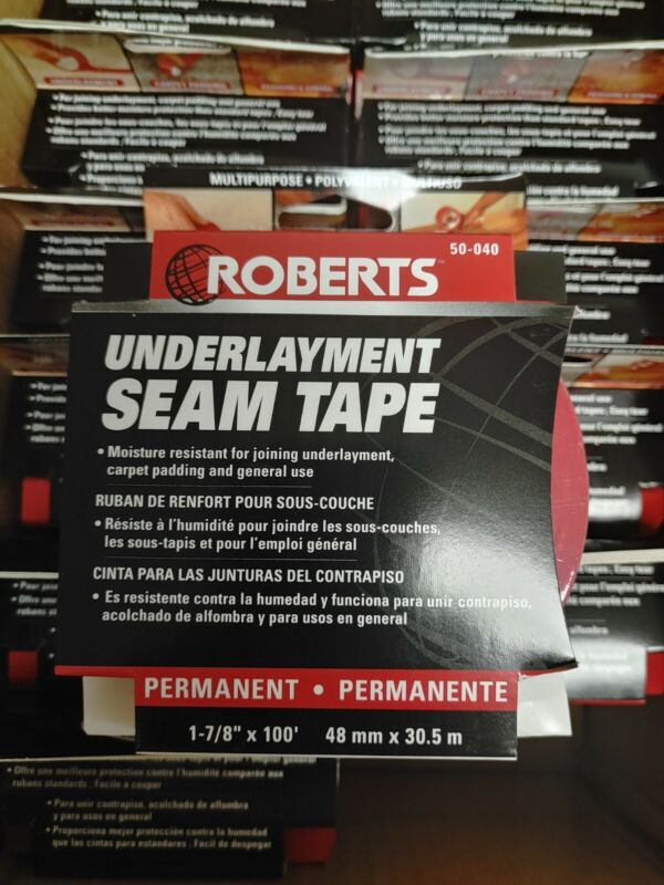 Roberts Underlayment Tape Roll 1-7/8 in. x 100 ft. x 0.005 in. (Case of 12)