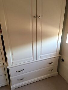 White cupboard with two drawers Ryde Ryde Area Preview