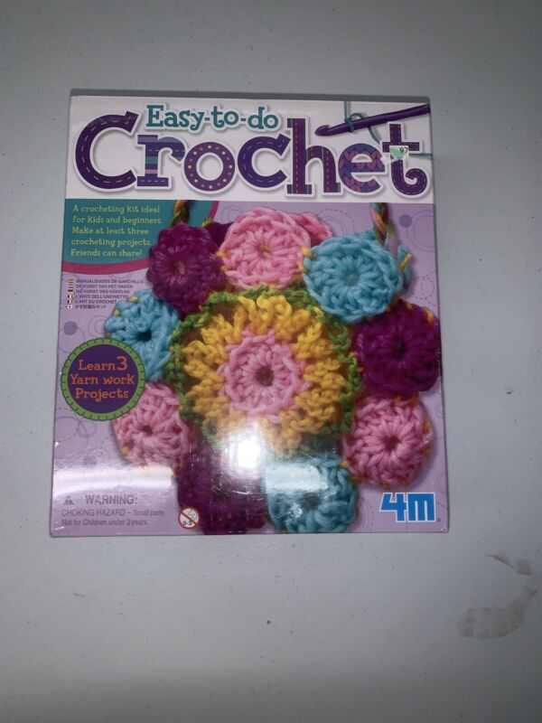 4M 2737 Easy To Do Crochet Kit, For Kids and Beginners, Ages 8+ Brand New