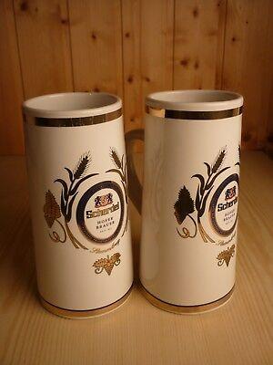 Bierkrug aus Porzellan, Brauerei Scherdel, 2 Stück