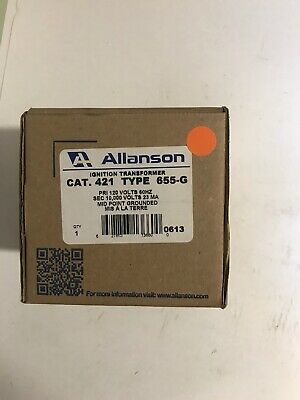 Allanson 421 Type 655g Ignition Transformer 120v Primary 10000v Secondary