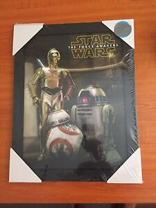 Star Wars force awakens framed picture Mount Hawthorn Vincent Area Preview
