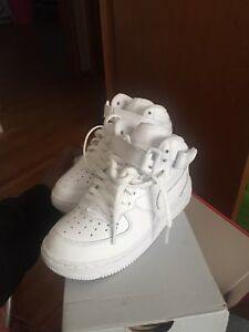All white Air force 1's size 11c