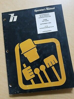 Dresser International Td-25 Series G Crawler Tractor Operators Manual