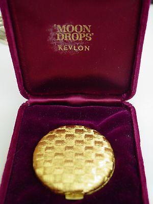 Revlon Moon Drops Collector's Edition Basket Weave design powder compact