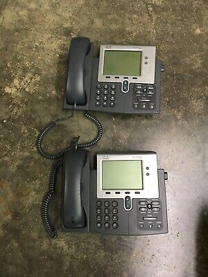 Lot Of 2 Cisco Ip Business Phones 7941 Series Cp-7941g-v02