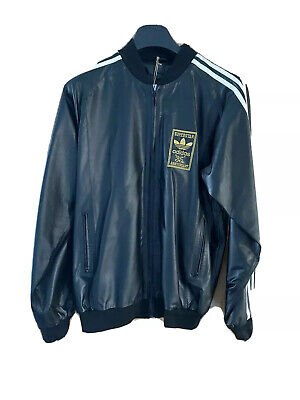 Mens Adidas 35th Anniversary Superstar Leather Jacket. Size Medium. New With Tag