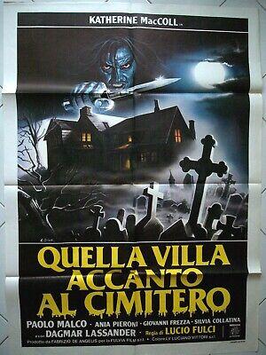 The House by The Cemetery Poster LUCIO FULCI Quella Villa Accanto al Cimitero