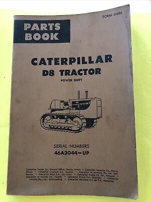 Vintage Caterpillar Model D8 Tractor Crawler Bulldozer Manual Book Catalog Parts