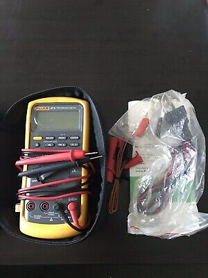 New With Case Fluke 87v Industrial True-rms Multimeter W Temperature