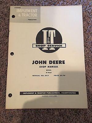 It John Deere Shop Manual Model R Diesel