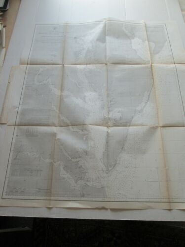 ONE (1) 1866 COAST SURVEY, DELAWARE AND CHESAPEAKE BAYS, CAPE MAY to CAPE HENRY