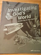 Abeka Investigating God's World