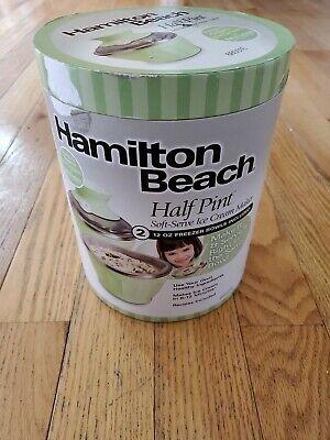Green Hamilton Beach Half Pint Soft Serve Ice Cream Maker Model 68551E Type IC05