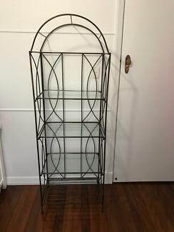 Glass / Wrought Iron Display Cabinet