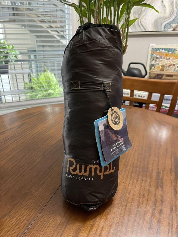 "Rumpl Compact Solid Puffy Down Black Blanket 1.2lbs. 52""x75"""