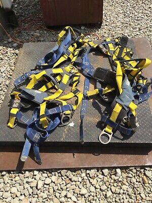 4 Dbi-sala Full Body Harnessesxl420 Lb.blueyellow 1101656 Blueyellow