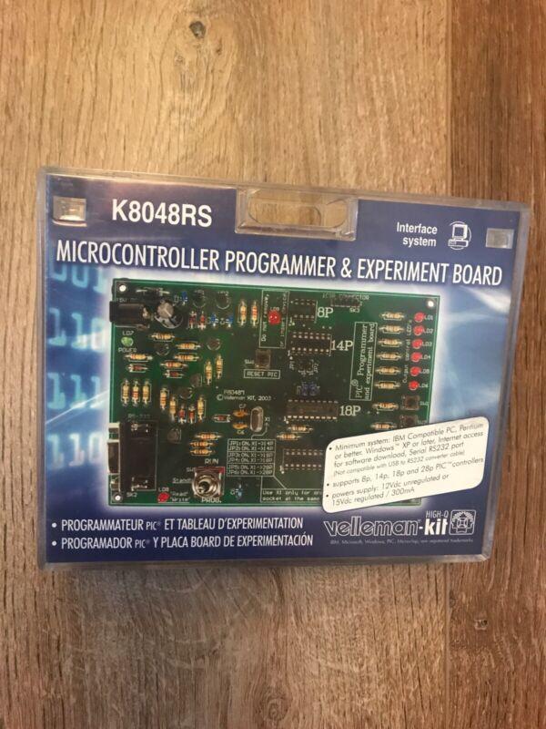 NEW Velleman K8048RS Microcontroller Programmer & Experiment Board.