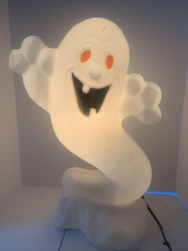 """Drainage Industries Halloween Lighted Boo Ghost Blow Mold 22-1/2"""" Tall"""
