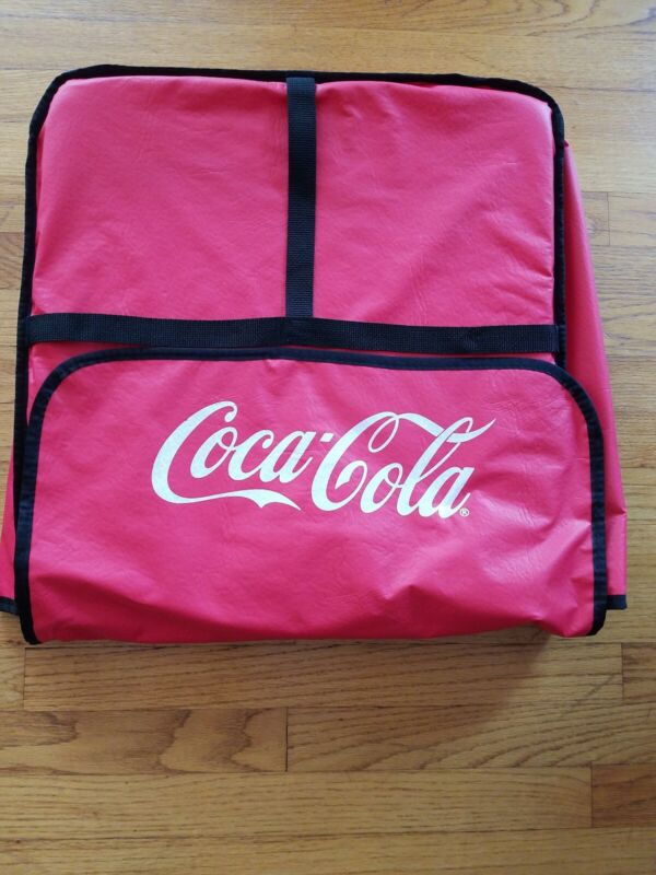 Collectible Coca-Cola Commercial Insulated Pizza Delivery Bag Red Large 2 Pizza