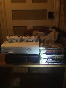 NED GONE Xbox 360 /Xbox 360 slim bundle games, controllers Obo