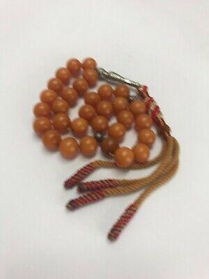 Bakelite prayer beads 50g- 12mm - 31 beads + Imam - very nice - tested