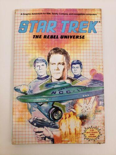 "Computer Games - IBM Star Trek: The Rebel Universe Computer Game 3.5 5.25"" 5 1/4 Floppy Disk 1988"