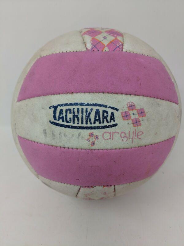 Tachikara Soft-Tech Argyle Pink White Volleyball