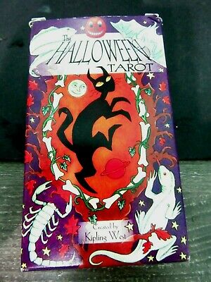 HALLOWEEN TAROT DECK & BOOK SET KIPLING WEST ESOTERIC TELLING US GAMES SYSTEMS