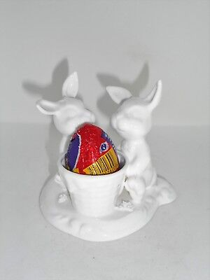 New Boxed Fine Bone China Rabbit Figurine, Easter Gift, Egg Cup, China Rabbit for sale  Shipping to Ireland