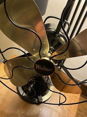 Wagner Model 6406 Oscillating Electric Fan 1923 Antique Fan Brass