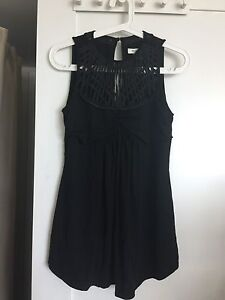 Black top with sheer details