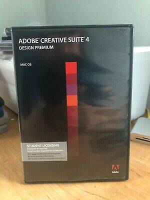 Adobe Creative Suite 4 Design Premium MAC OS w/ Serial Number Student Edition