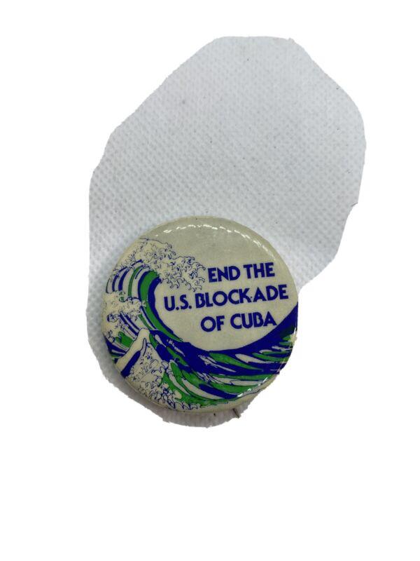 END THE US BLOCKADE OF CUBA button