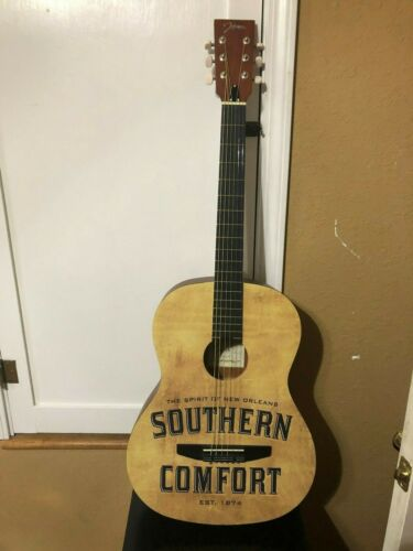 SOUTHERN COMFORT ACOUSTIC GUITAR NEW IN BOX MAN CAVE DECOR MUSIC DISPLAY SOCO