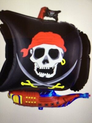 Pirate Halloween Party Decorations (4 Pc Pirate Skull Crossbones Balloons Halloween Birthday Party)