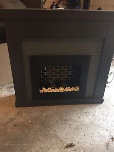Paramount Highland Gel Fuel Fireplace with Faux Stone Surround