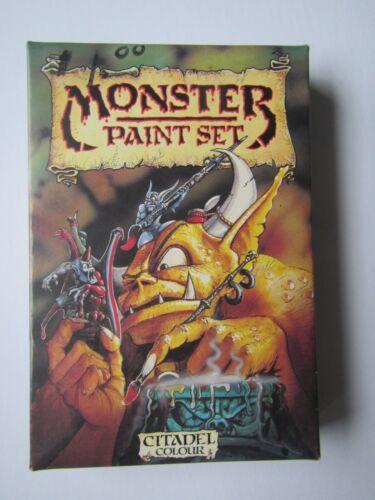 CIB Boxed Citadel Colour Monster Paint set 81099 1988 6/9 paints still sealed