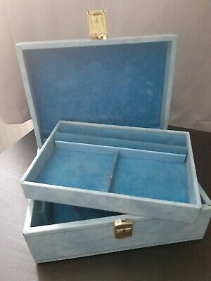 Design Philipp Skandetui-Malmo Baby Blue Vintage Jewellery Box No Key